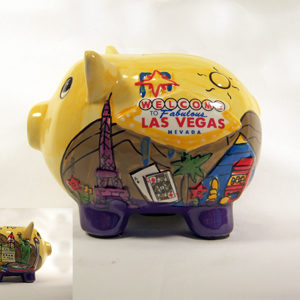 Las Vegas Welcome Piggy Bank