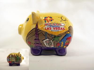 Las Vegas Welcome Piggy Bank