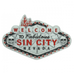 Welcome to Sin City Belt Buckle