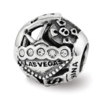 Las Vegas Collage Swarovski Elements & Sterling Silver Charm