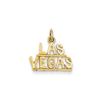 Las Vegas Pendant Charm in 14k Yellow Gold