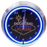 LAS VEGAS SIGN NEON CLOCK