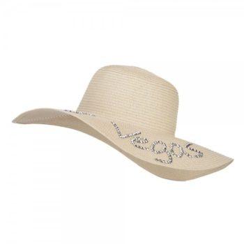 Las Vegas Rhinestones Sun Hat - Natural