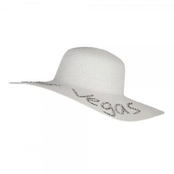 Las Vegas Rhinestones Sun Hat - White