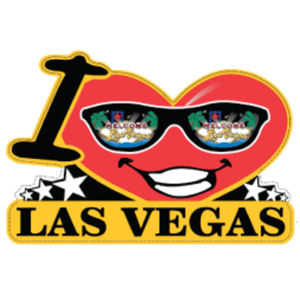 I Love Las Vegas - Diecut Sticker